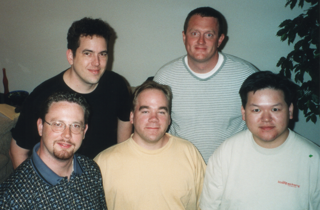 Iconfactory founders: Corey Marion, Dave Brasgalla, Gedeon Maheux, Craig Hockenberry and Talos Tsui