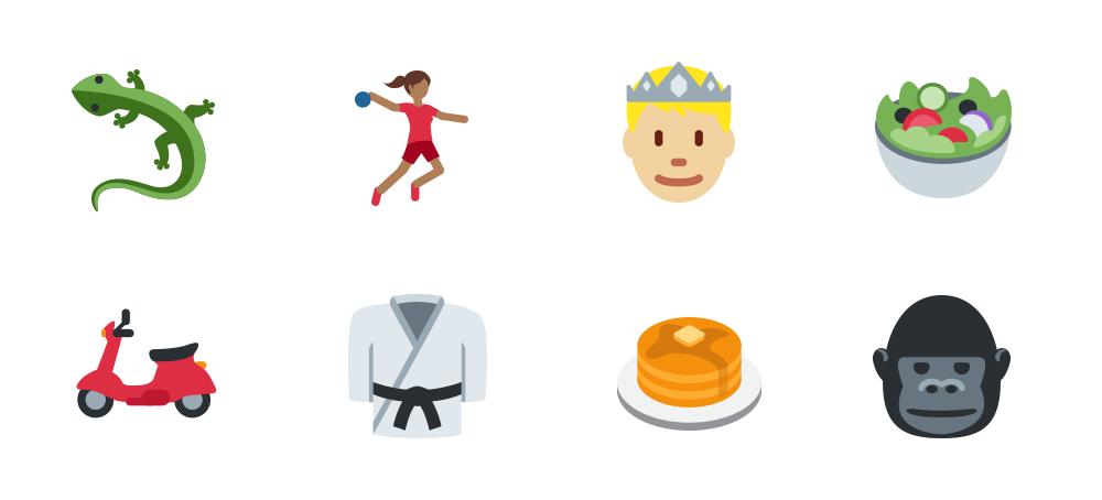 Twitter Twemoji Unicode 9 examples