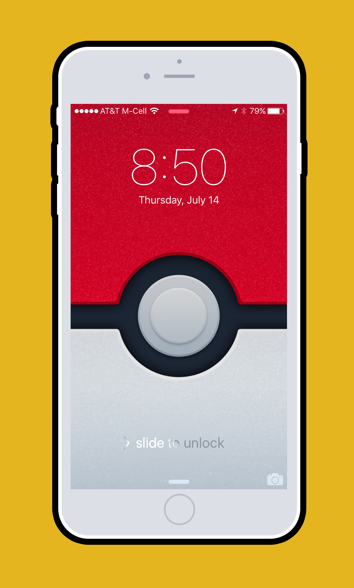 Screen shot of pokéwall wallpaper on an iPhone 6