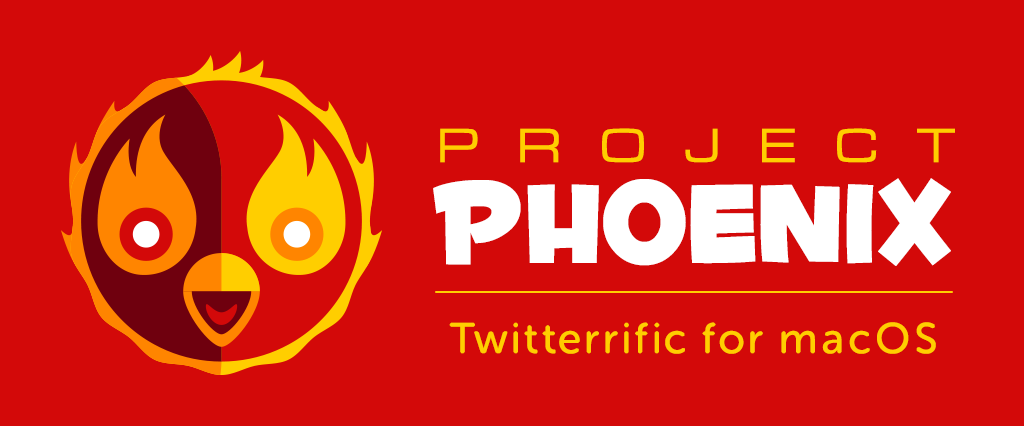 Ollie as a burning Phoenix with the Project Phoenix logo