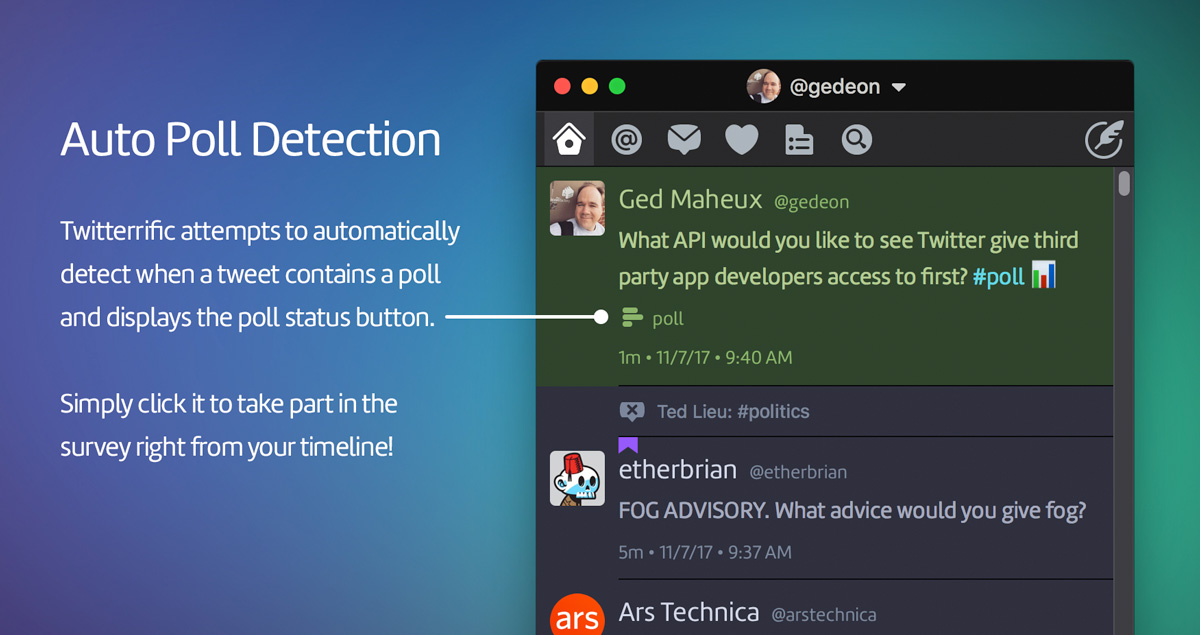 Automatic Poll Detection in Twitterrific 5.2