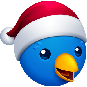 Jolly Ollie app icon for the holidays
