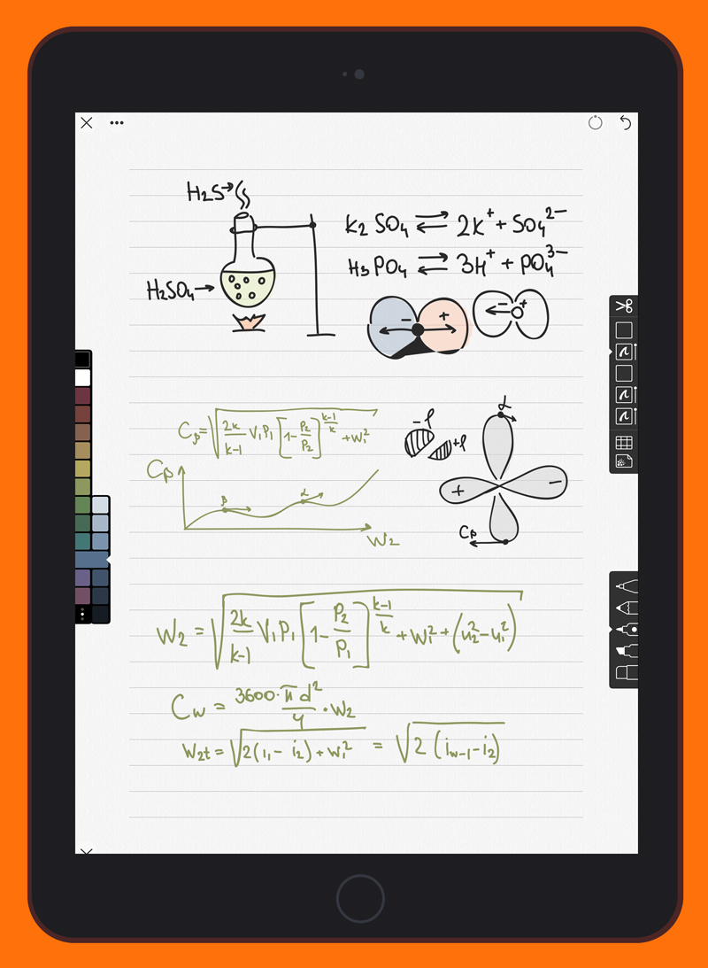 Linea Sketch works great in portrait mode for note taking