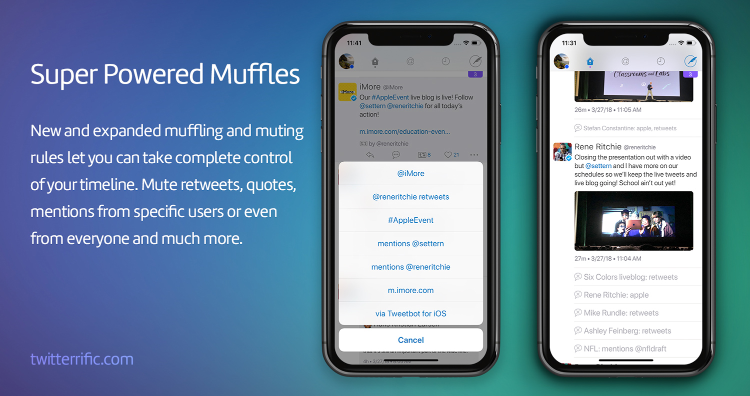 Super Powered Muffles in Twitterrific