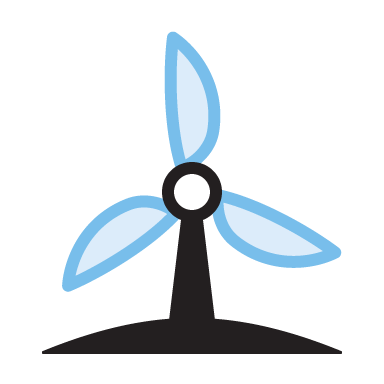 Dark Sky animated windmill icon
