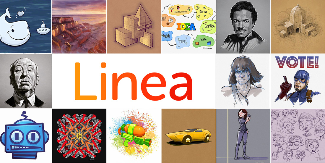 Linea instagram illustration mosaic