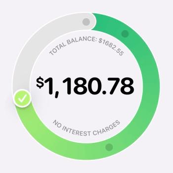 Apple Card's circular interest UI