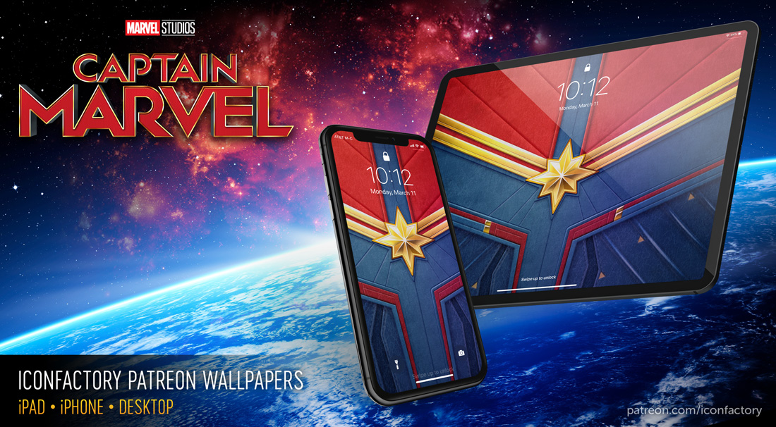 Captain Marvel Wallpaper by the Iconfactory