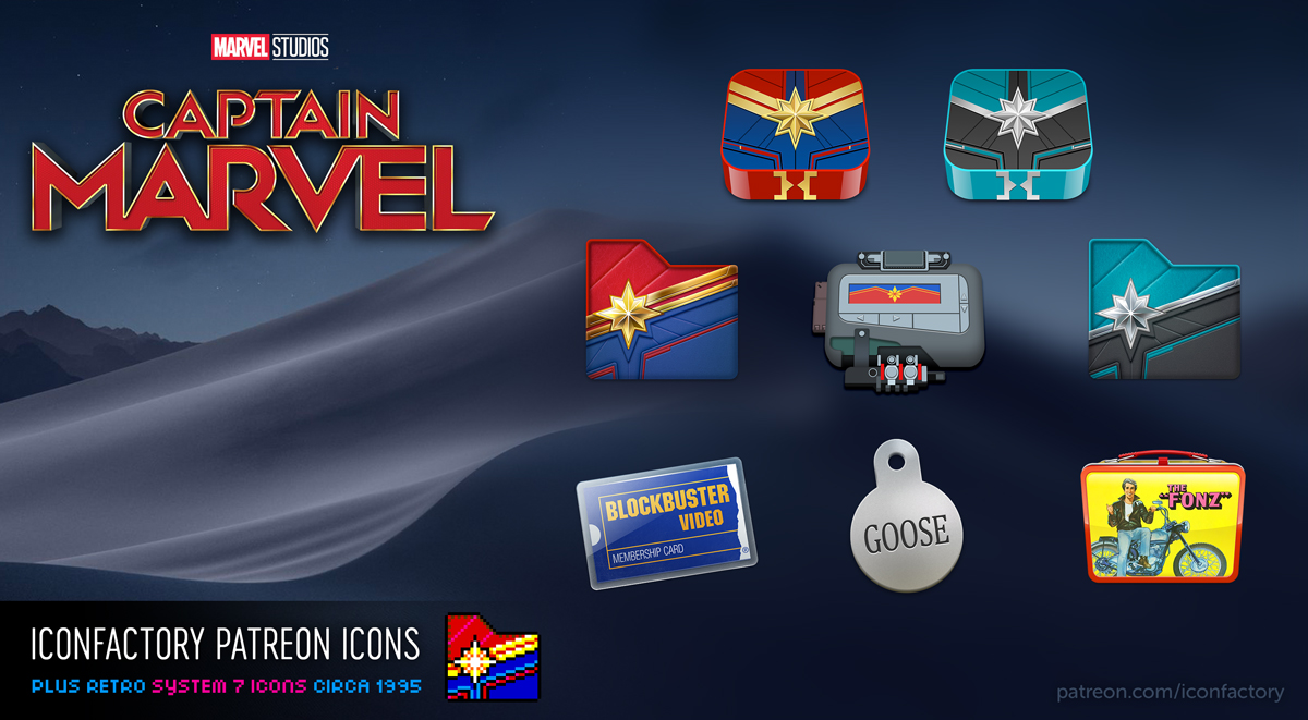 Captain Marvel Icons by the Iconfactory
