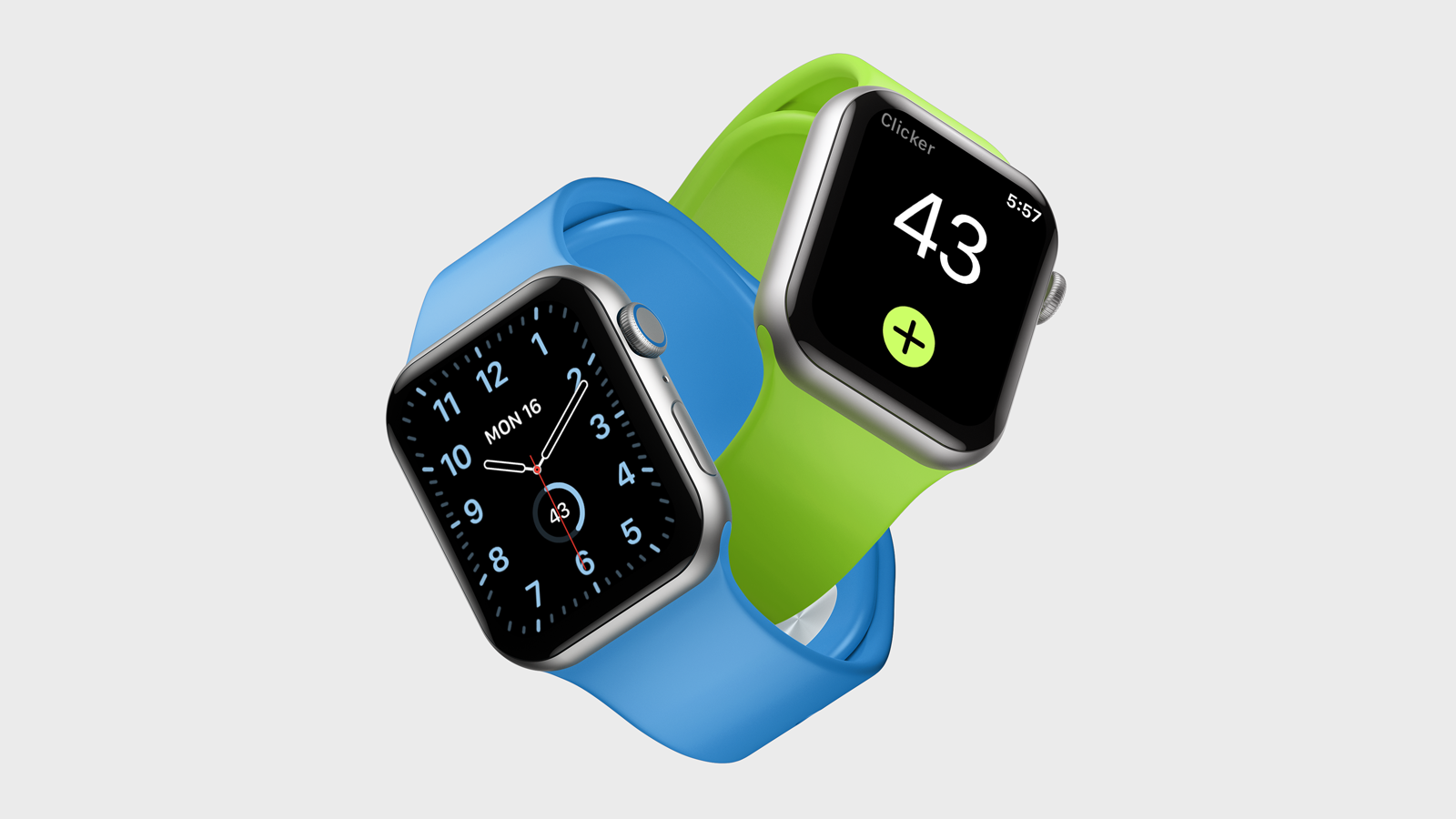 Clicker in all its simplistic glory running on Series 4 Apple Watch