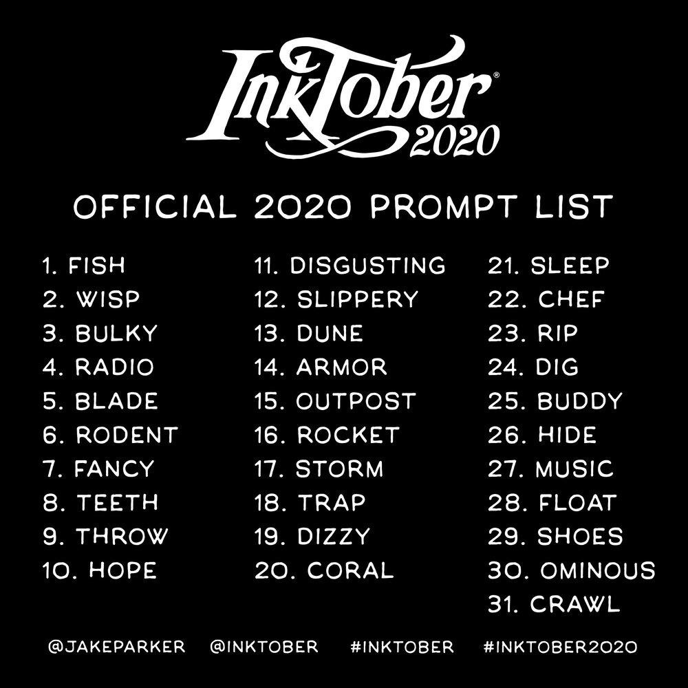 2020 prompt list