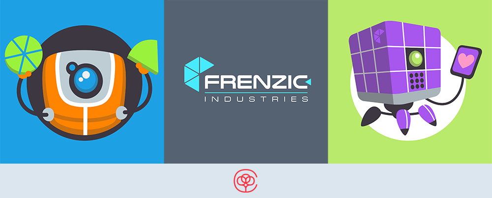 Frenzic: Overtime t-shirt designs: DoBot Ready to Assemble, Frenzic Industries corporate logo and InfoBot Loves You!